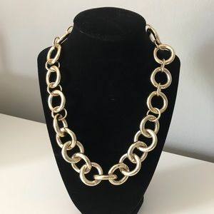 J Crew gold chain link necklace